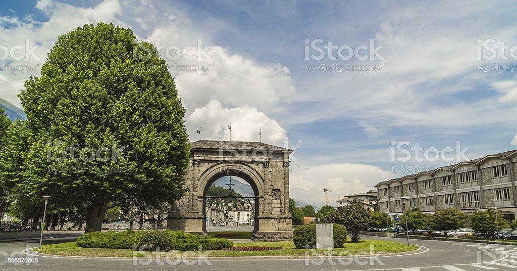 Augustus Caesar Arch stock photo