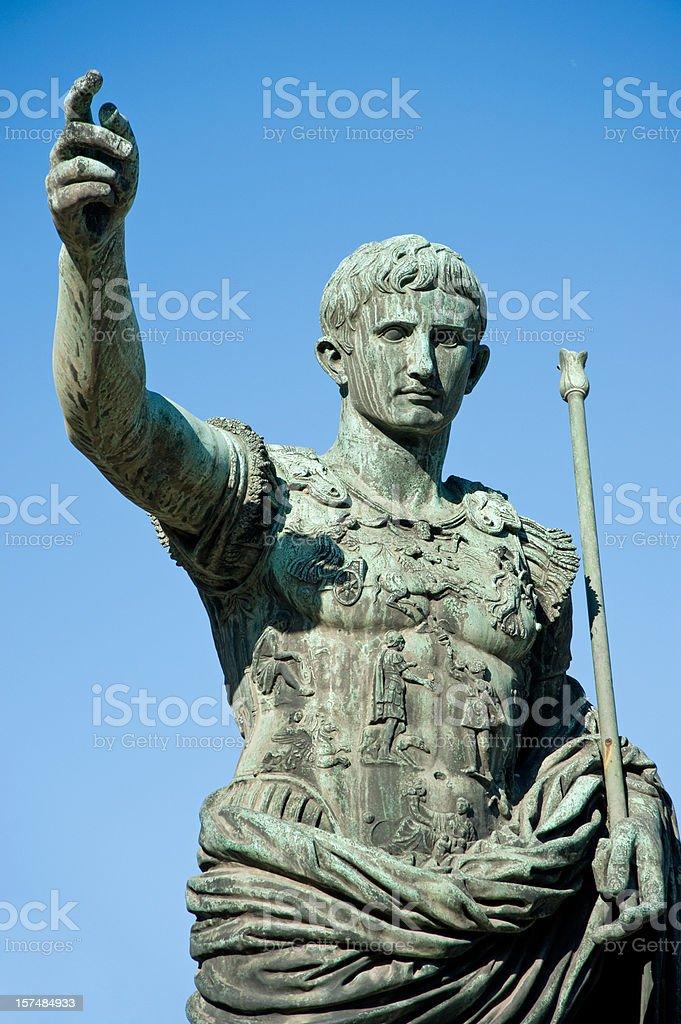 Augustus emperor stock photo