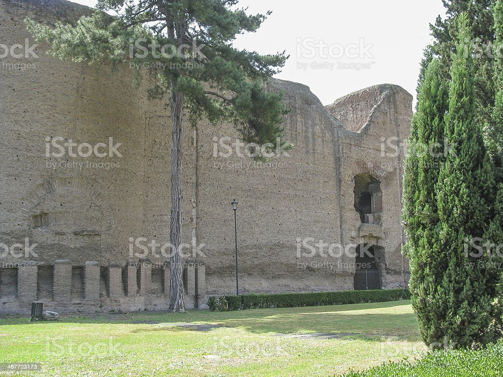 Augustus Mausoleum in Rome stock photo