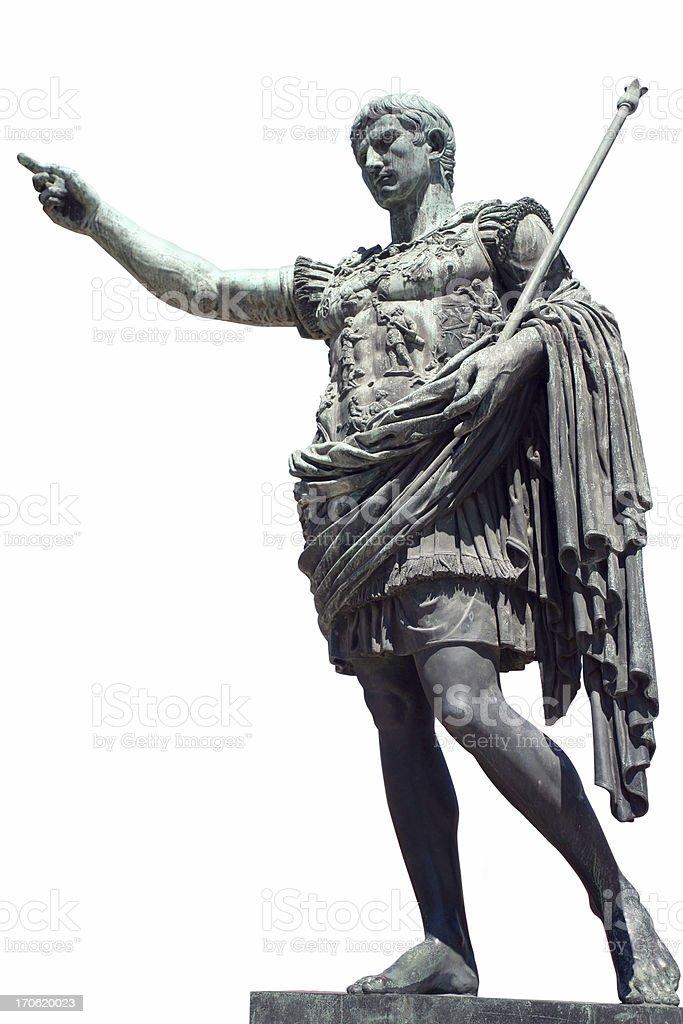 Augustus, Roman Emperor stock photo