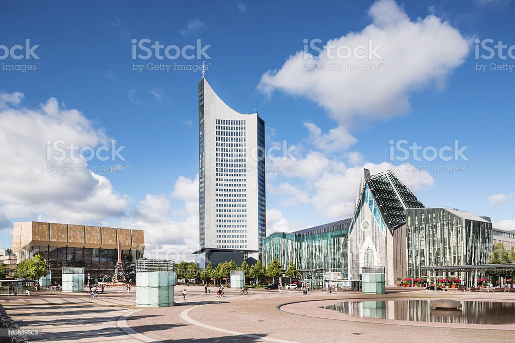 Augustusplatz in Leipzig, Germany stock photo