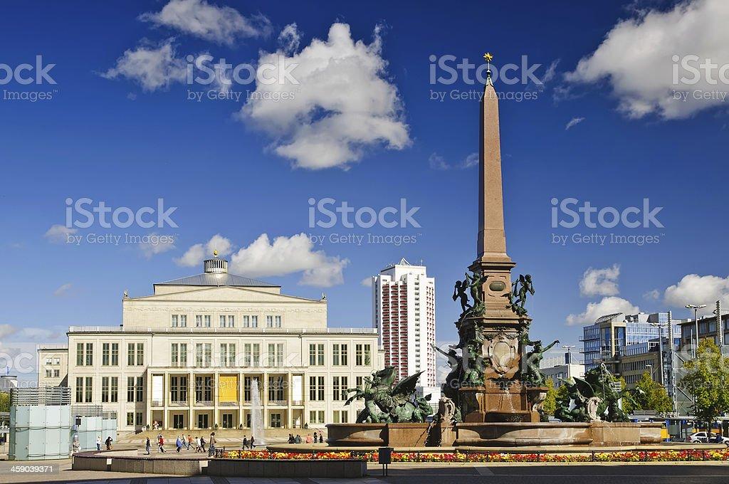 Augustusplatz in Leipzig stock photo