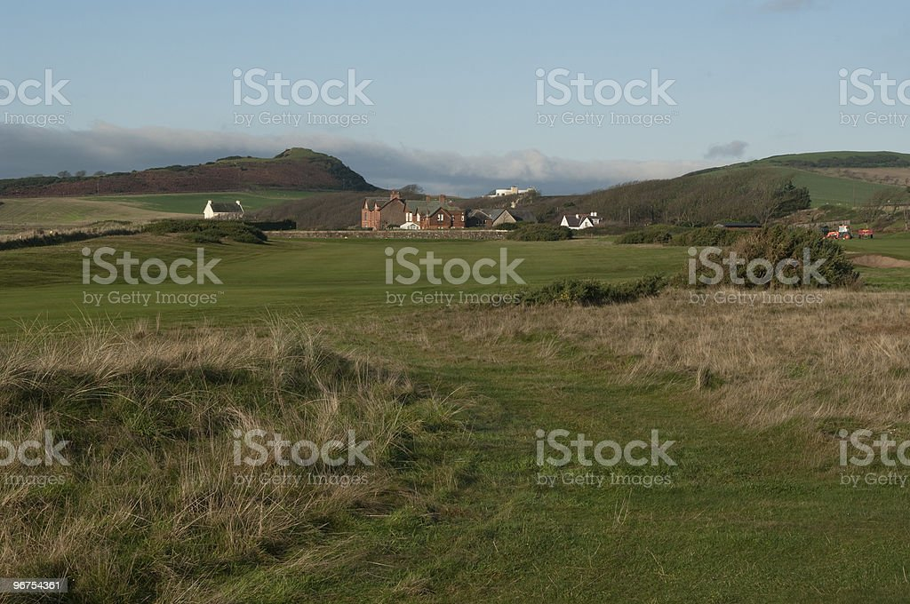 Auld Hill from golfcourse royalty-free stock photo
