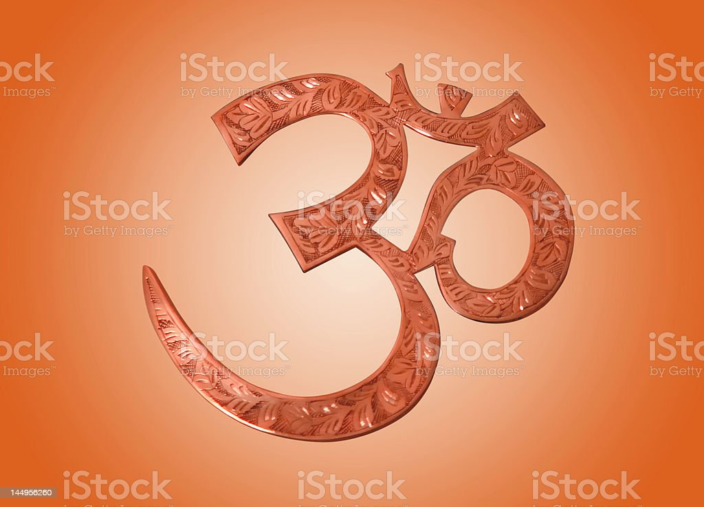 aum icon royalty-free stock photo