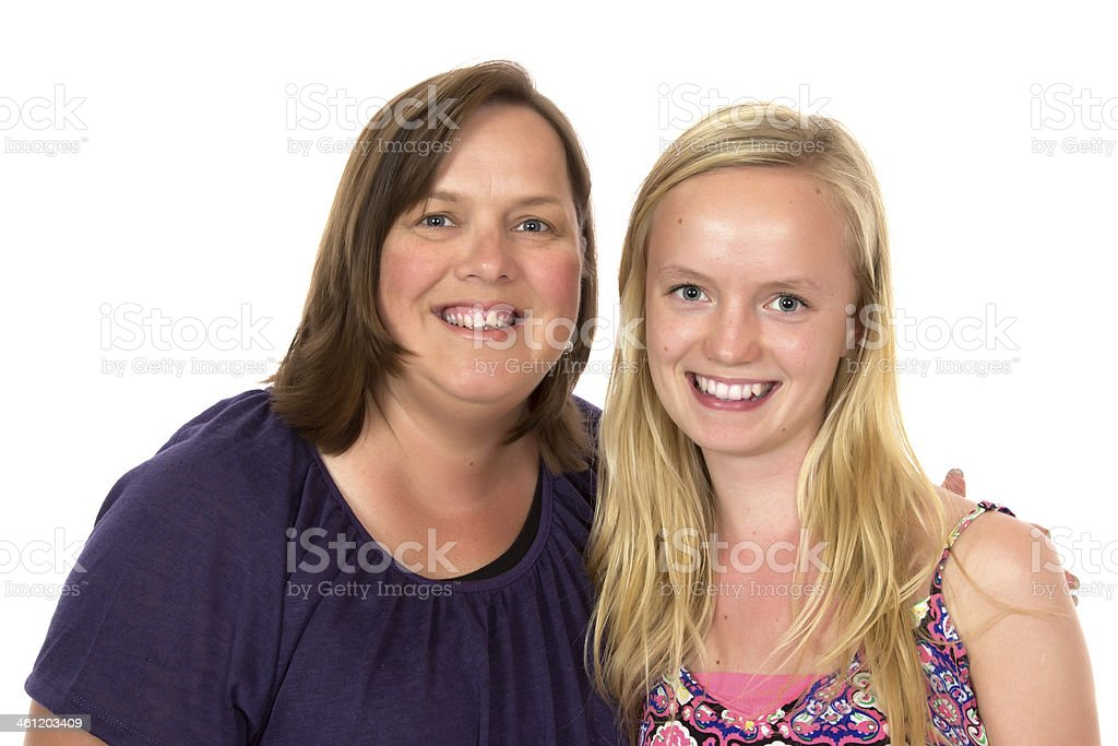 Aunty and Niece stock photo