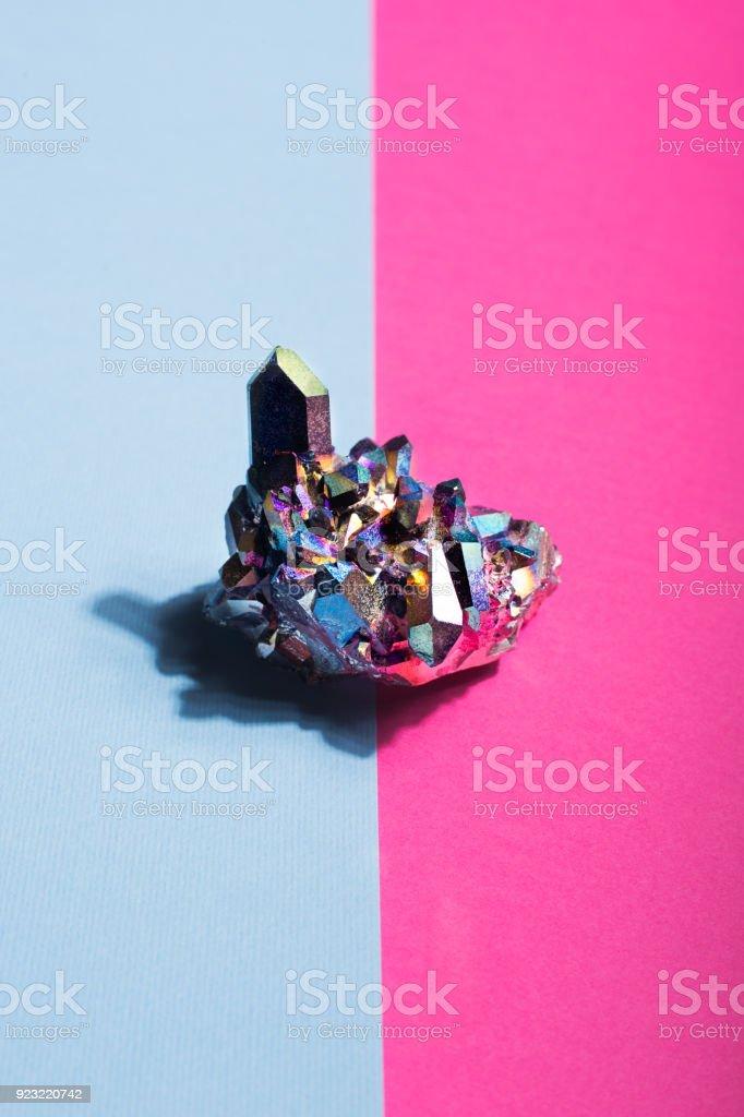 Aura rainbow quratz abstract background stock photo