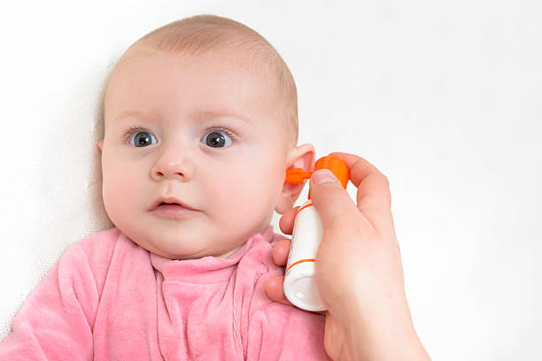 Auricular Hygiene stock photo