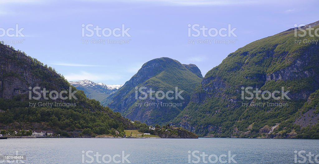 Aurland in Norway stock photo