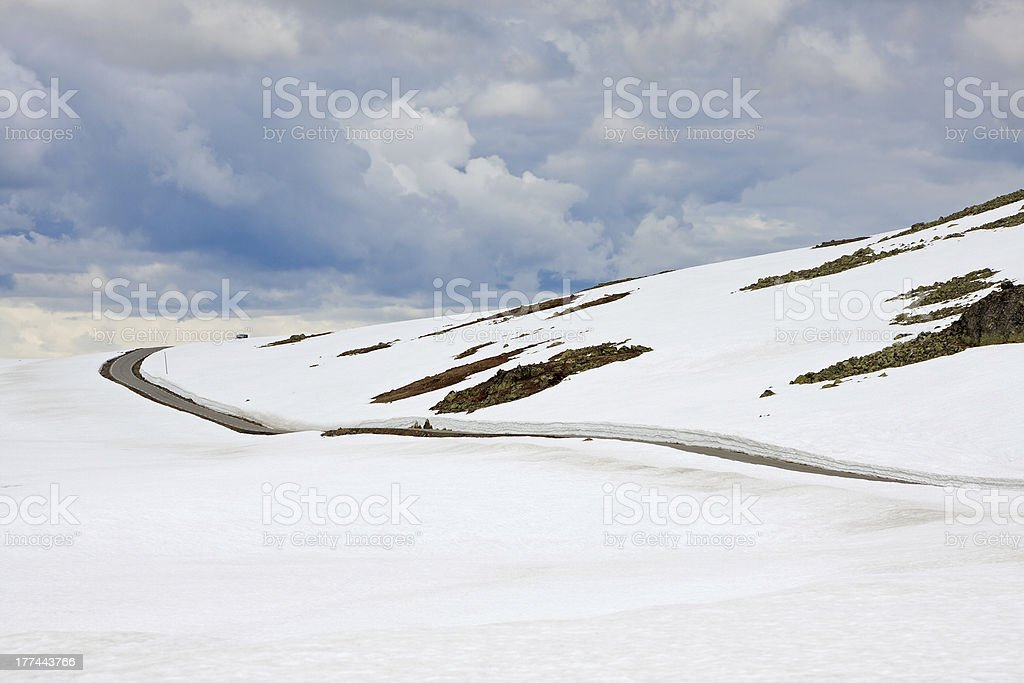 Aurlandsfjellet (National Tourist Route Fv243, Norway) royalty-free stock photo