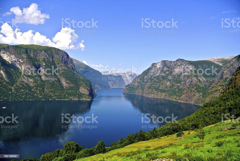Aurlandsfjord stock photo