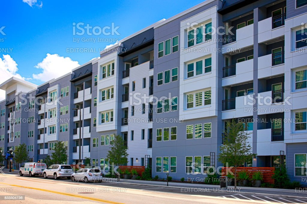 Aurora Apartments On S Morgan Street In Tampa FL, USA Royalty Free Stock  Photo