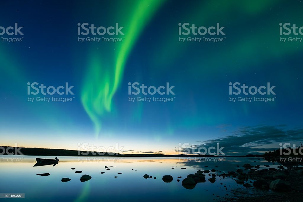 Aurora at Dusk stock photo