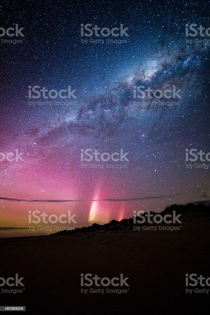 Aurora Australis, 90 mile beach stock photo