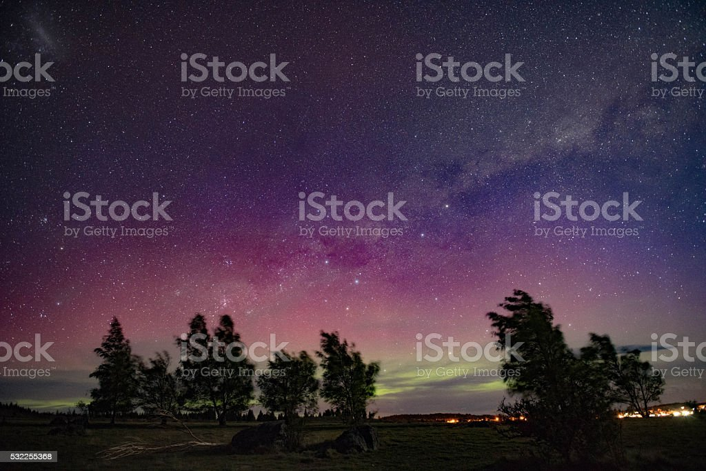 Aurora australis stock photo