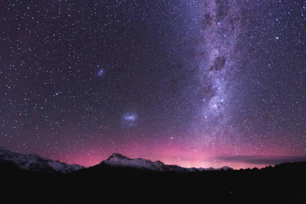 aurora australis - céu a noite imagens e fotografias de stock