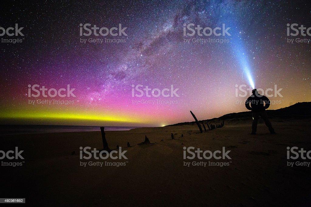 Aurora Australis, Victoria, Australia stock photo