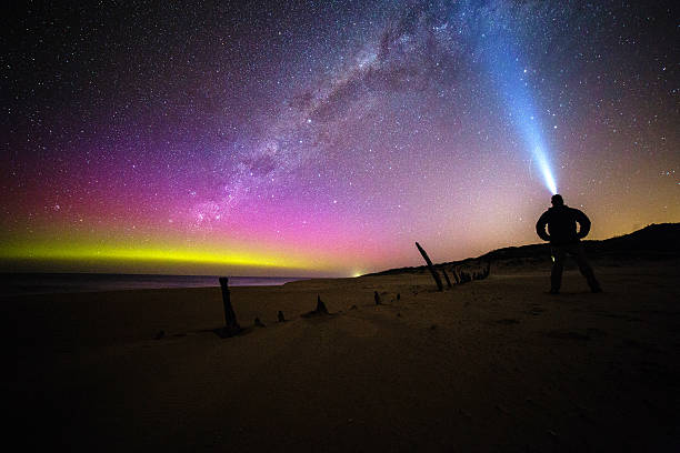 Aurora Australis, Victoria, Australia stock photo