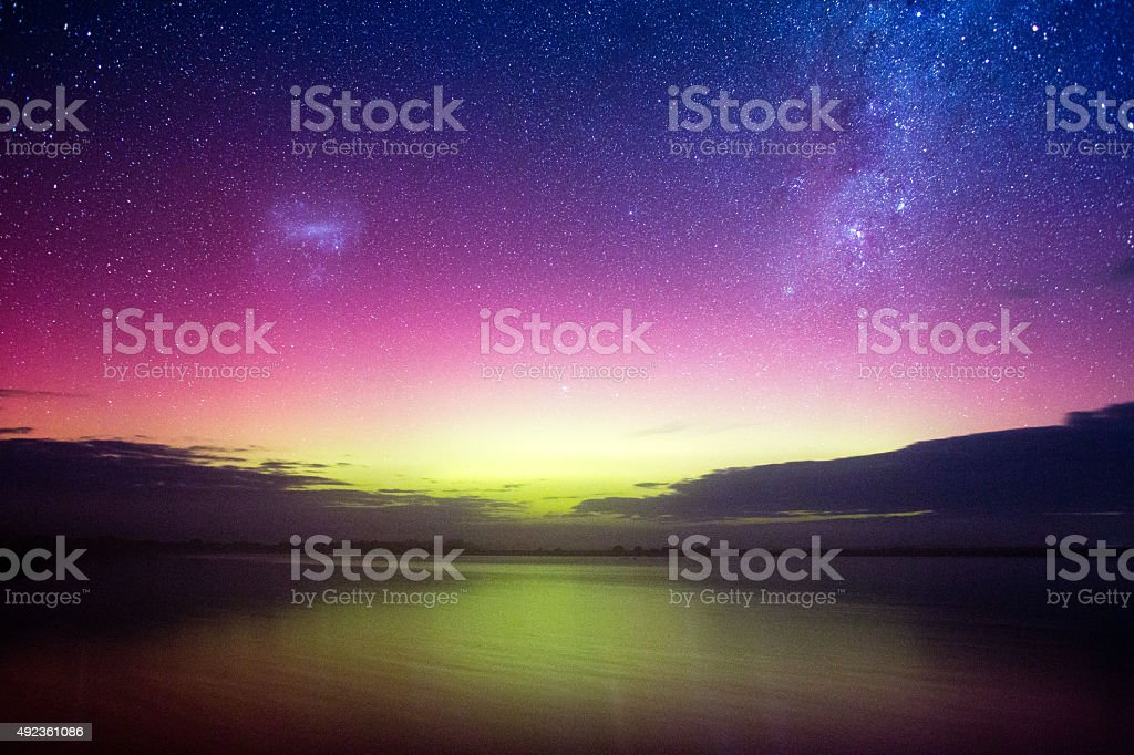 Aurora Australis, Victoria stock photo