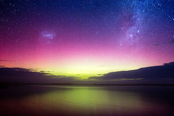 Aurora Australis, Victoria stock photo