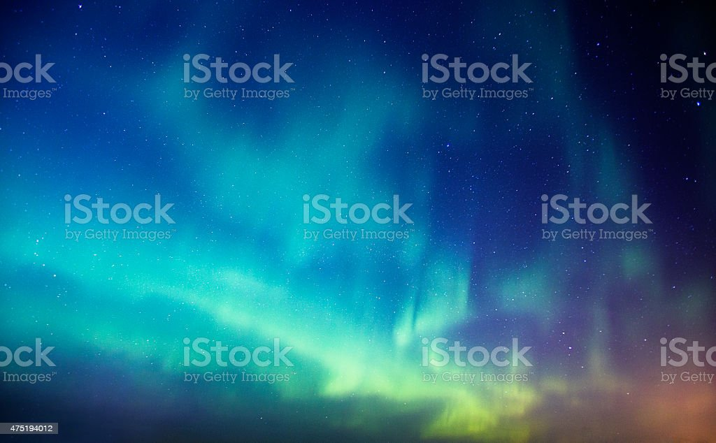Aurora Borealis Background stock photo