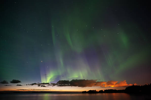 Aurora Borealis, Big Dipper and Bootes Aurora Borealis, Big Dipper and Bootes big dipper constellation stock pictures, royalty-free photos & images
