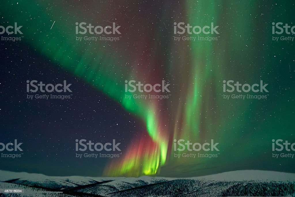 Aurora Borealis in Alaska stock photo