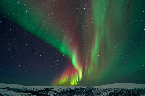 アラスカの Aurora Borealis ストックフォト