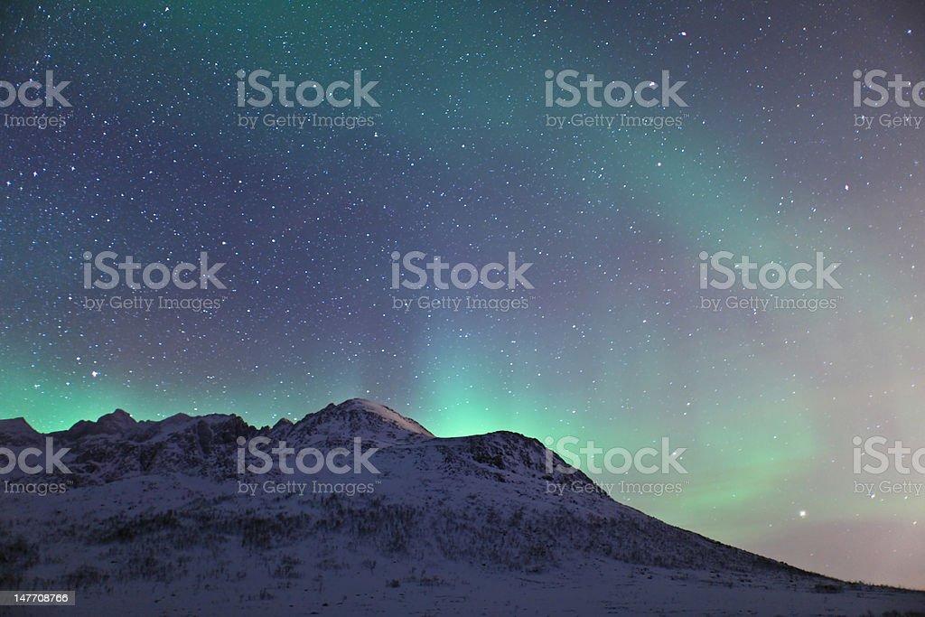 Aurora Borealis in Lapland (Northern Lights) stock photo