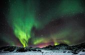 The Aurora Borealis at Lake Kleifarvatn, sometimes referred to as Polar Lights or Northern Lights, Iceland.