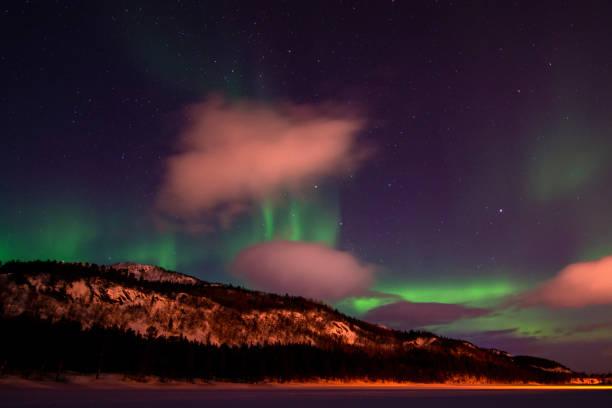Aurora Borealis, Langvannet, Alta, Norwegen – Foto
