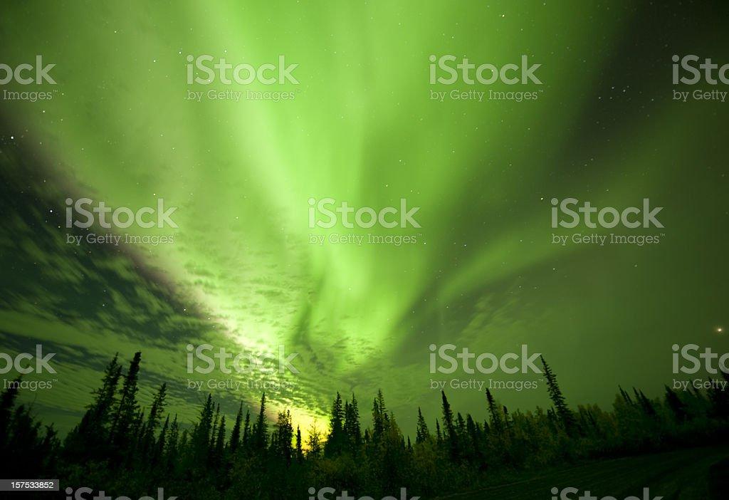 Aurora Borealis near Yellowknife. stock photo