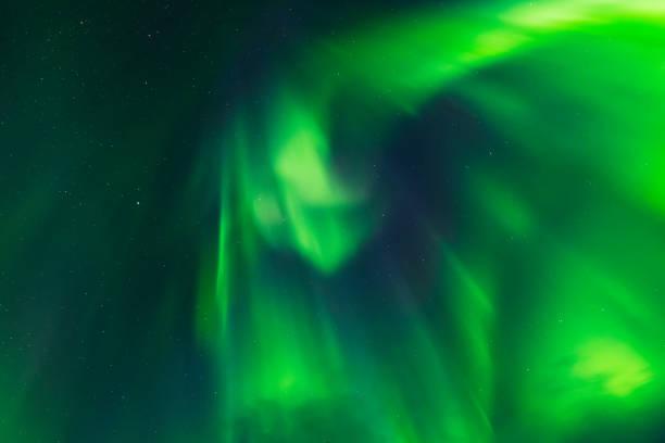 Aurora Borealis, Northern lights, corona overhead stock photo