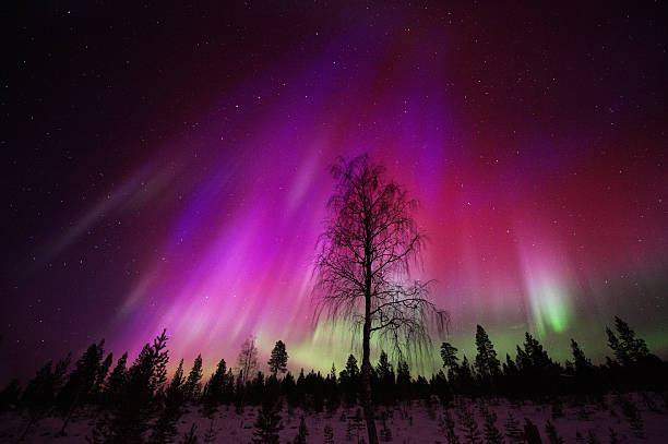 Aurora Borealis 、光 ストックフォト