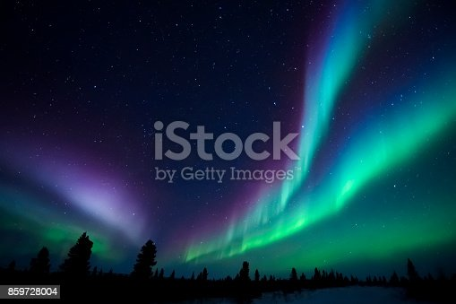 istock Aurora Borealis, Northern lights 859728004