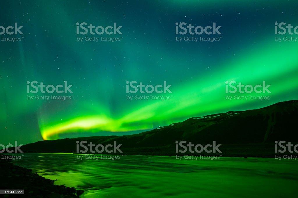 aurora borealis on iceland royalty-free stock photo