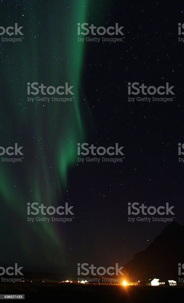 Aurora borealis or the northern lights stock photo
