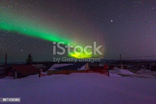 istock Aurora borealis  over Fairbank Alaska 867406380