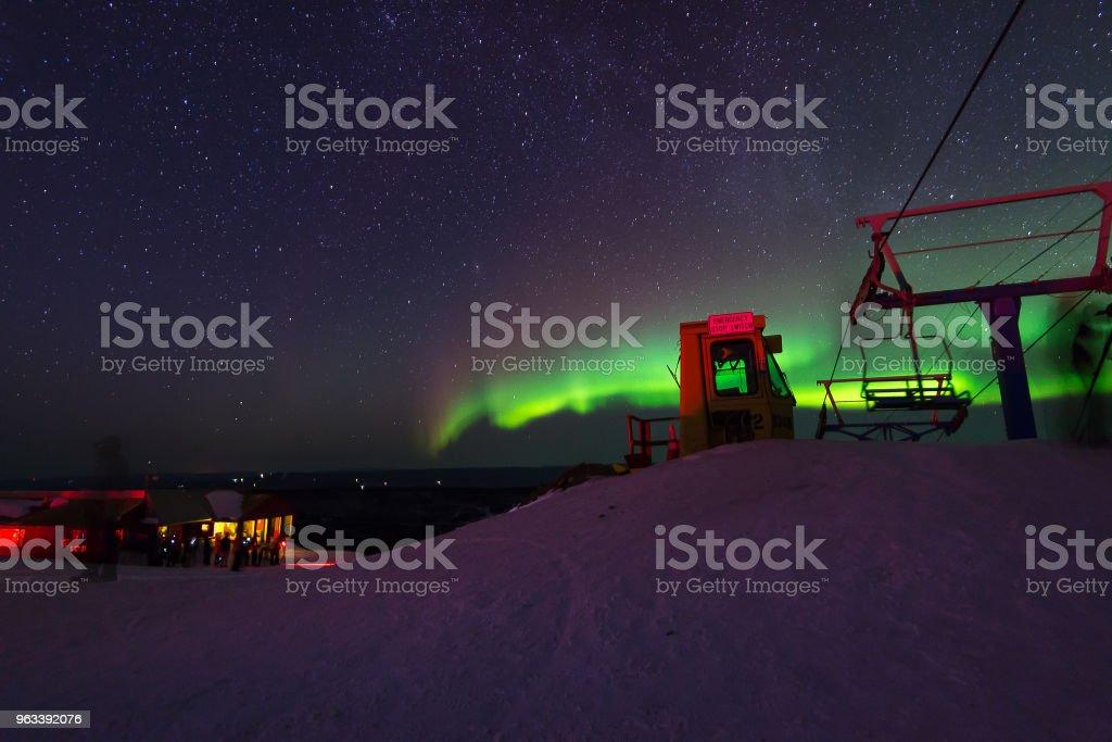 Aurora borealis  over Fairbank Alaska - Zbiór zdjęć royalty-free (Arktyka)
