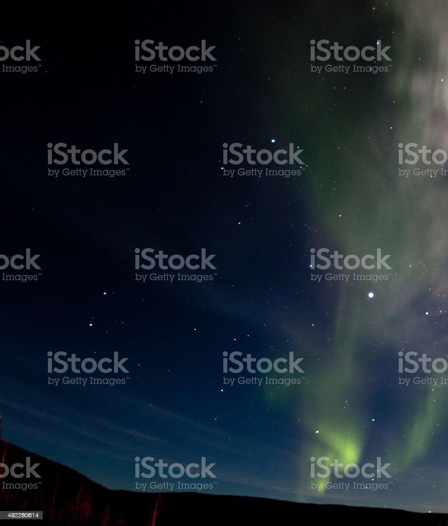 Aurora Borealis over Inuvik, NT stock photo