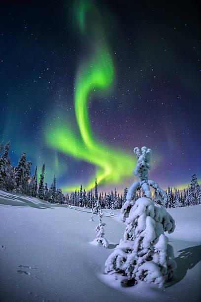 Aurora Borealis stock photo