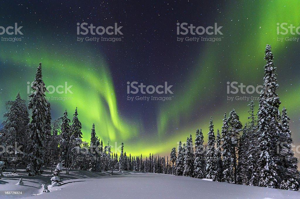 Aurora boreal foto de stock libre de derechos