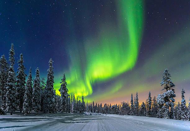 북극광 - 핀란드 뉴스 사진 이미지