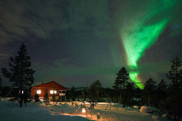 aurora borealis - norrbotten bildbanksfoton och bilder