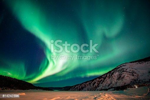 istock Aurora borealis,Yukon Territory,Canada 814242396