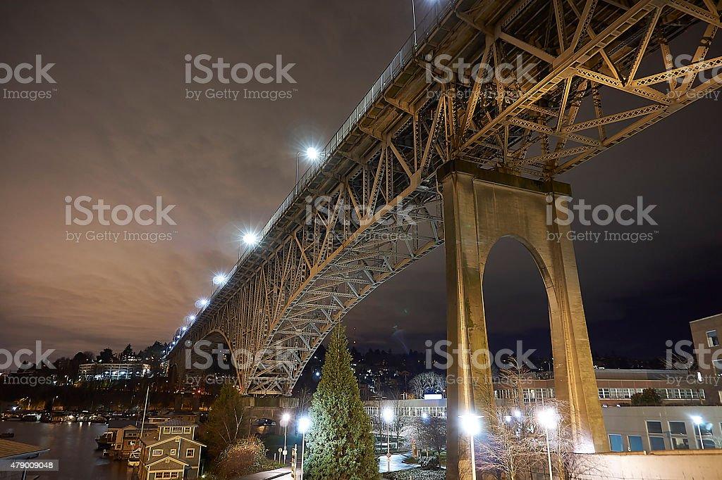 Aurora Bridge stock photo