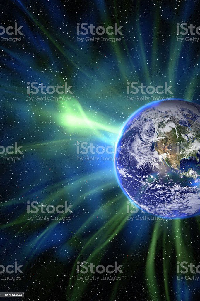Aurora Concept royalty-free stock photo
