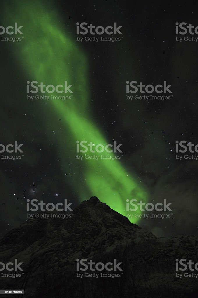 Aurora flame stock photo
