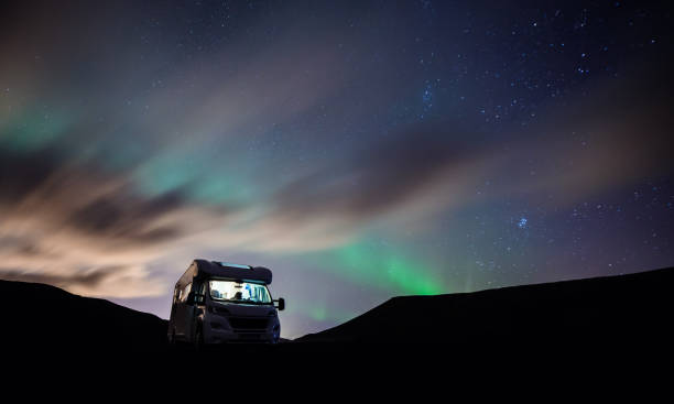 aurora hunter - motorhome stock photos and pictures
