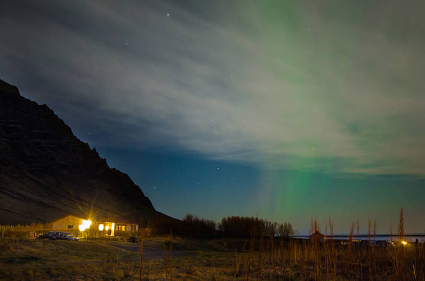 Aurora in Iceland stock photo