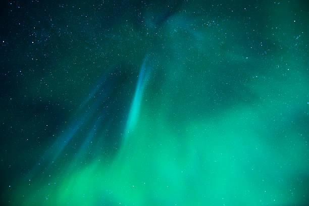 Aurora in Lofoten, Norway ストックフォト